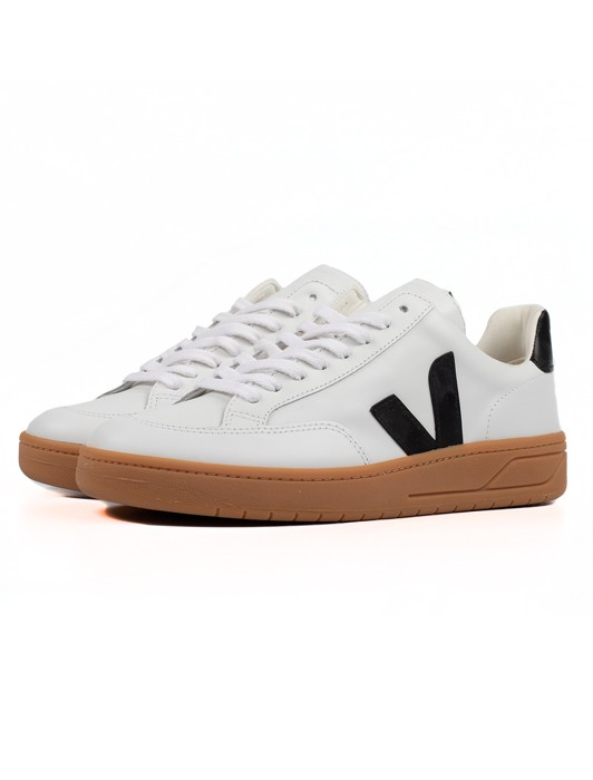 V-12 LEATHER EXTRA WHITE BLACK NATURAL SOLE