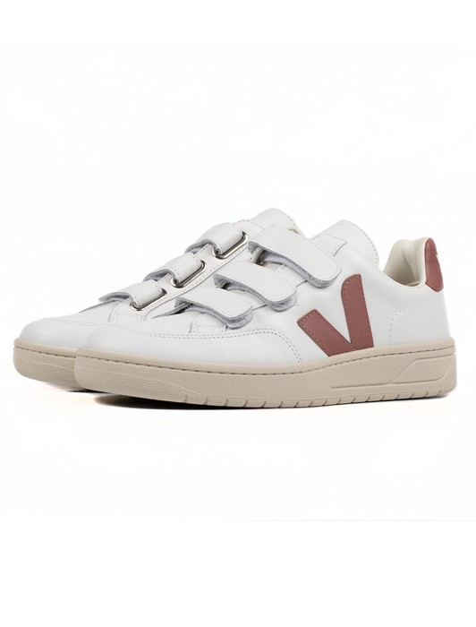 V-12 VELCRO LEATHER EXTRA WHITE DRIED PETALE