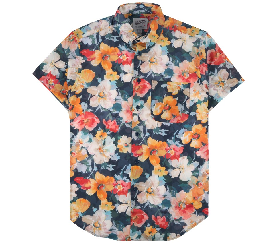 SHORT SLEEVE FLOWER PAINTING