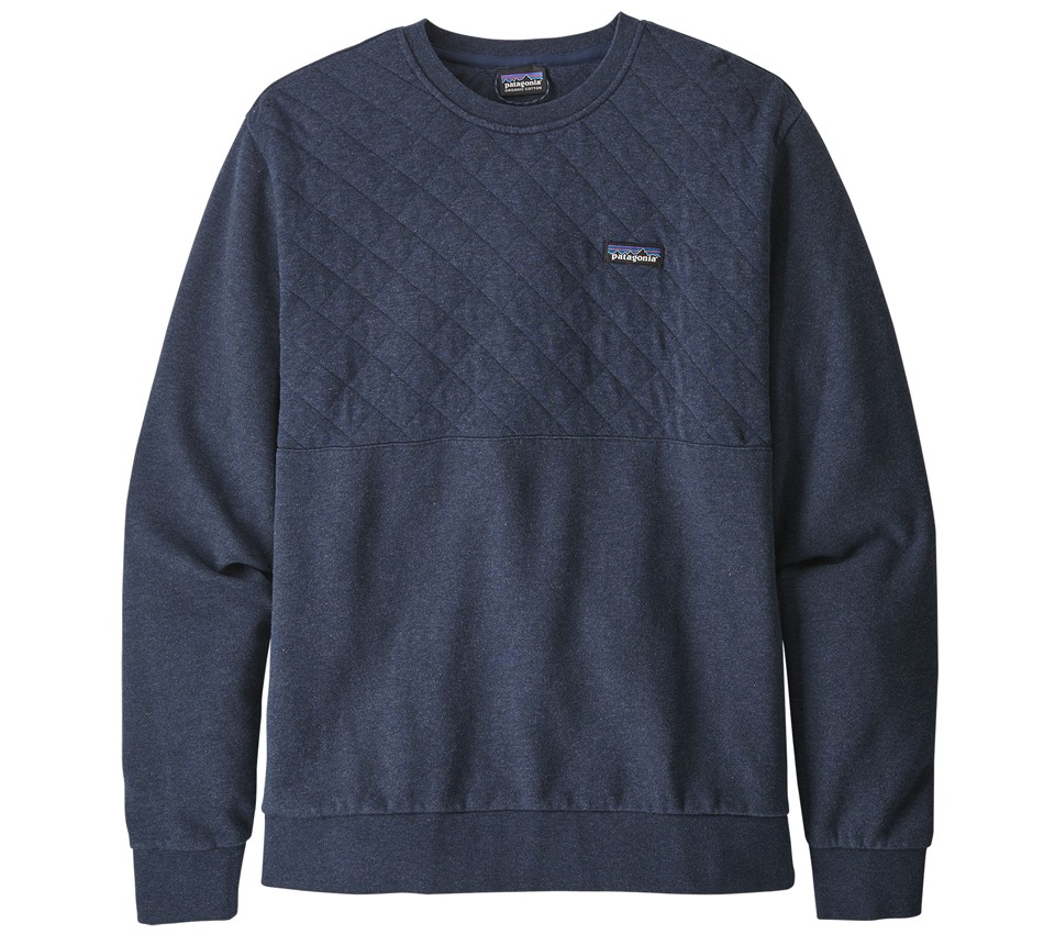 M'S ORGANIC COTTON QUILTED CREWNECK SWEATSHIRT