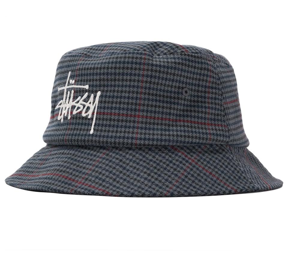 BIG LOGO CHECK BUCKET HAT