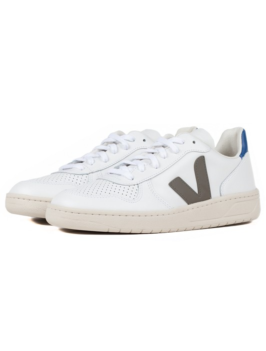 V10 LEATHER EXTRA WHITE KAKI INDIGO