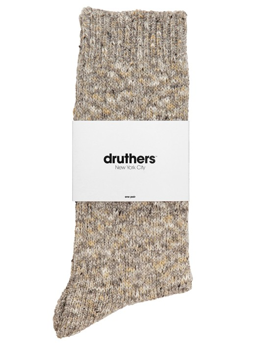 DRUTHERS RECYCLED COTTON CREW SOCKS