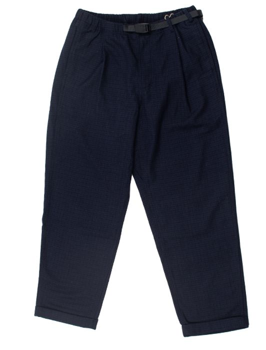 WOOL BLEND TUCK TAPERED PANTS